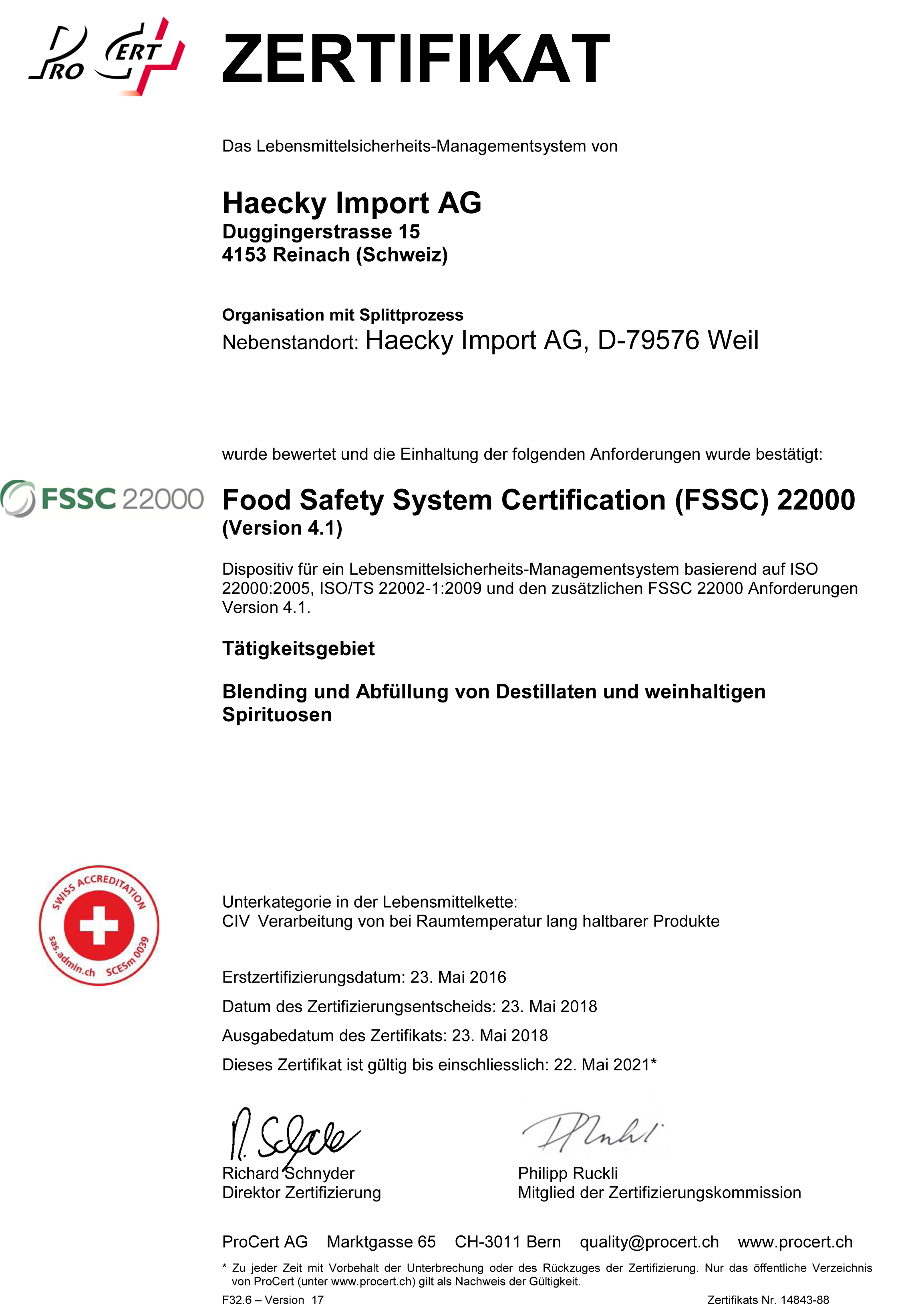 Certificates - Haecky